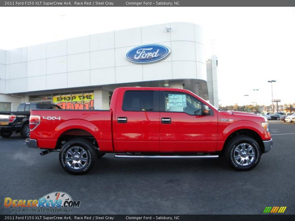 race red 2011 ford f150 xlt supercrew 4x4 photo 2. Black Bedroom Furniture Sets. Home Design Ideas