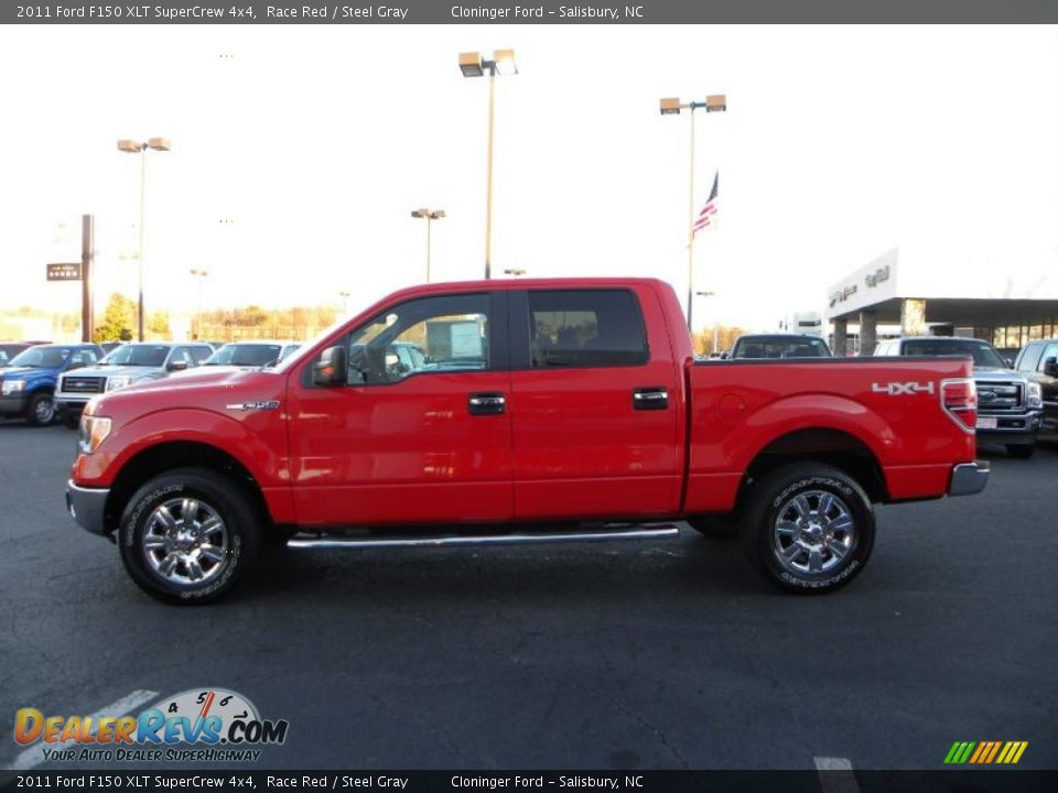 2011 ford f150 xlt supercrew 4x4 race red steel gray photo 5. Black Bedroom Furniture Sets. Home Design Ideas
