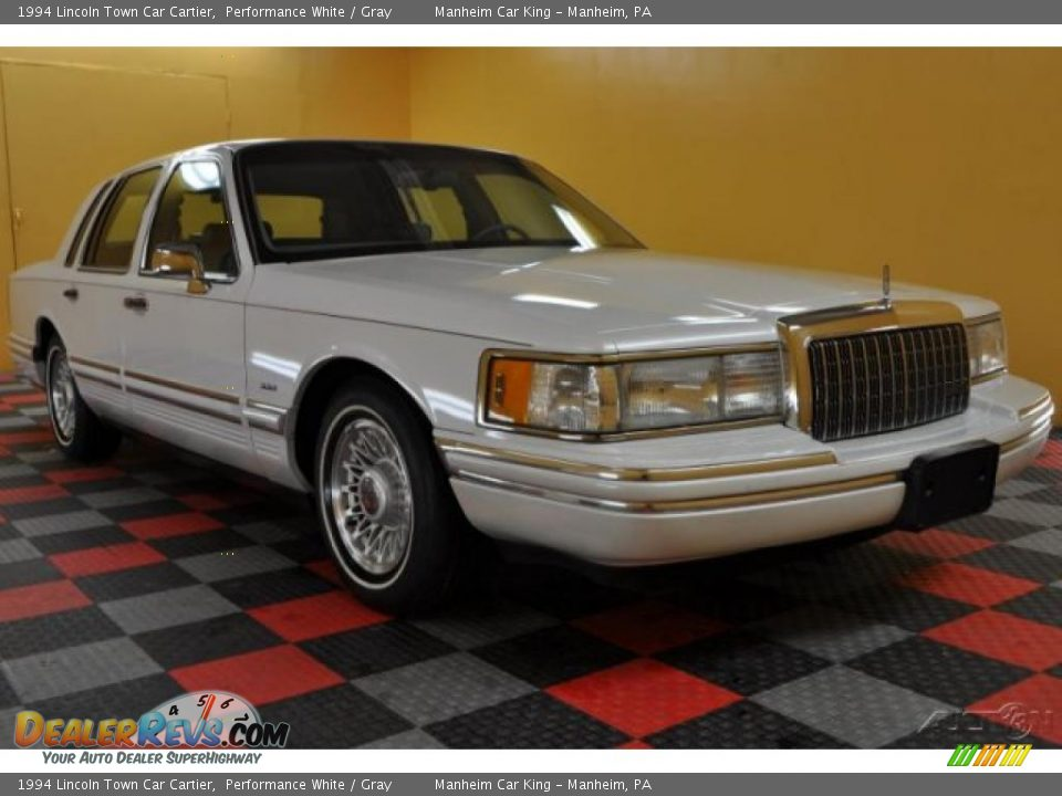 1994 lincoln town car cartier performance white gray for State motors lincoln dealer manchester nh