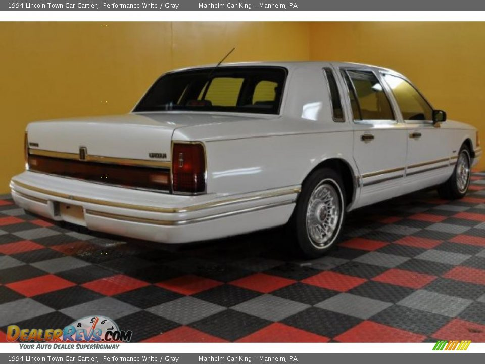 1994 lincoln town car cartier performance white gray photo 4. Black Bedroom Furniture Sets. Home Design Ideas