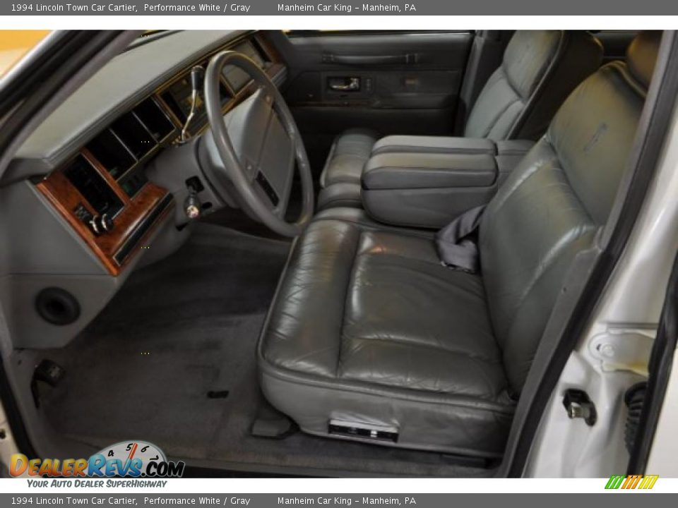 1994 lincoln town car cartier performance white gray photo 9. Black Bedroom Furniture Sets. Home Design Ideas