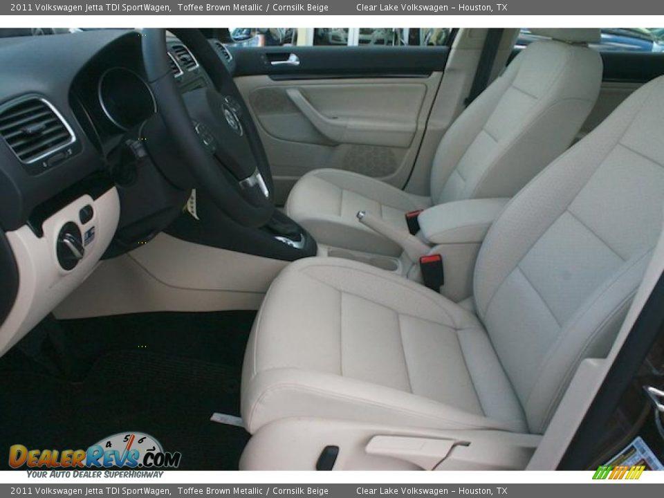 Cornsilk Beige Interior 2011 Volkswagen Jetta Tdi Sportwagen Photo 10