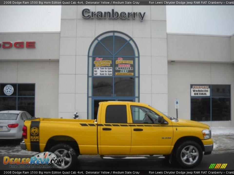 2008 Dodge Ram 1500 Big Horn Edition Quad Cab 4x4 Detonator Yellow ...