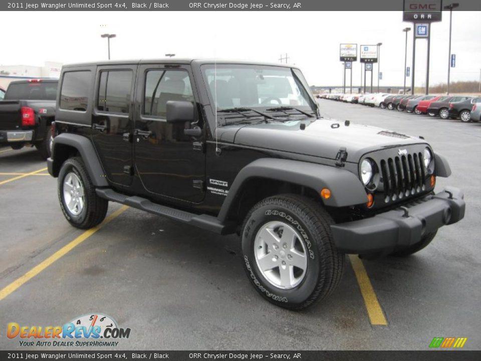 2011 jeep wrangler unlimited sport 4x4 black black photo 3. Black Bedroom Furniture Sets. Home Design Ideas