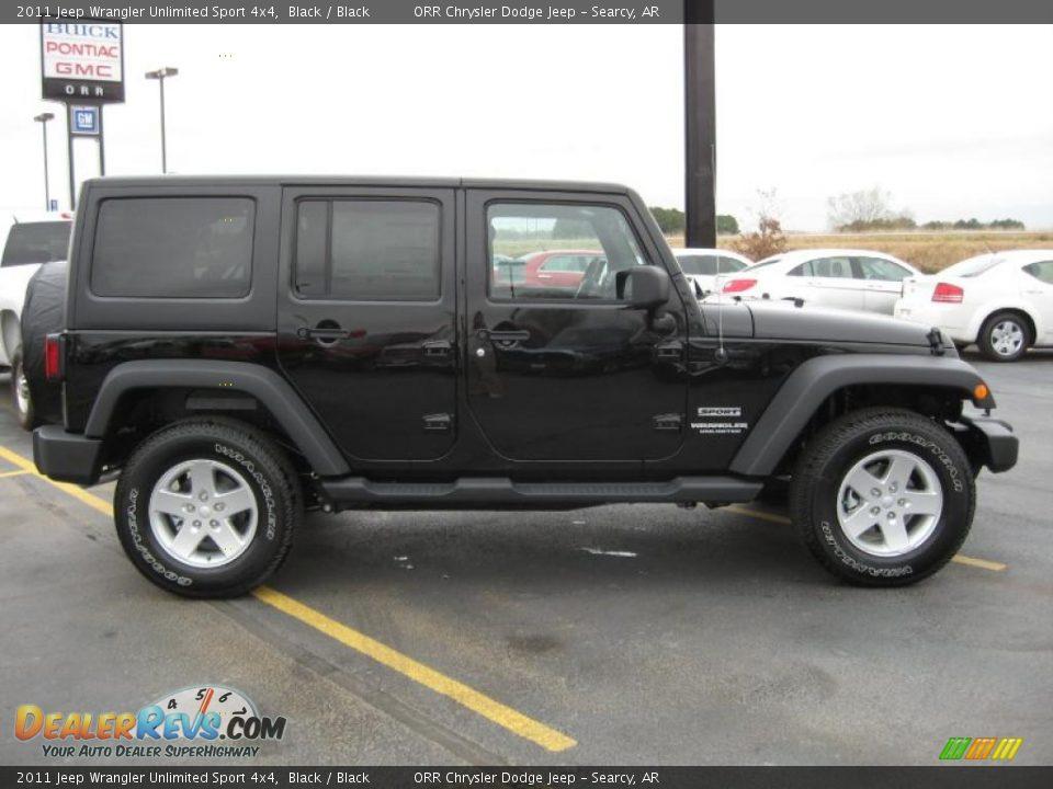 black 2011 jeep wrangler unlimited sport 4x4 photo 4. Black Bedroom Furniture Sets. Home Design Ideas