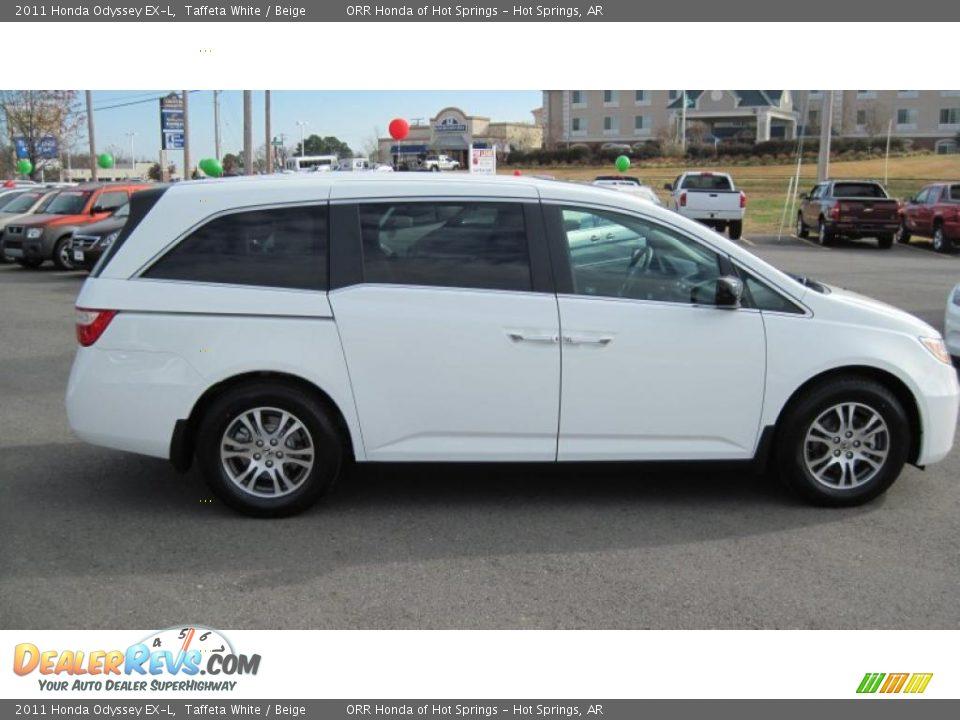 2011 Honda Odyssey EX-L Taffeta White / Beige Photo #6   DealerRevs ...