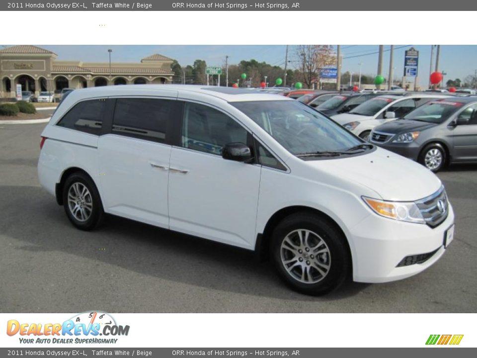 2011 Honda Odyssey Ex L Taffeta White Beige Photo 7