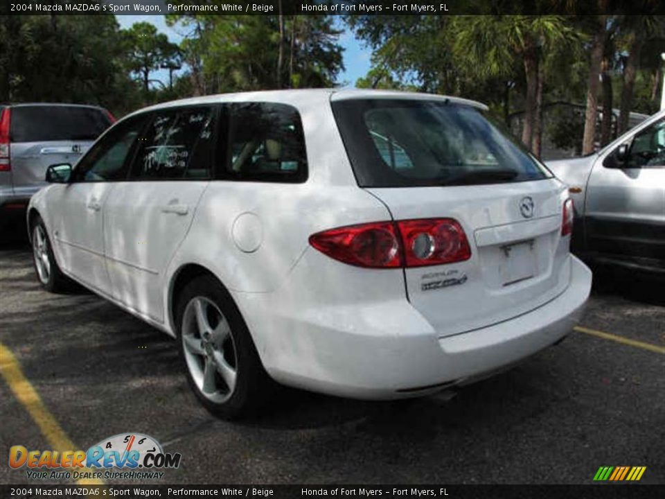 2004 mazda mazda6 s sport wagon performance white beige photo 3. Black Bedroom Furniture Sets. Home Design Ideas