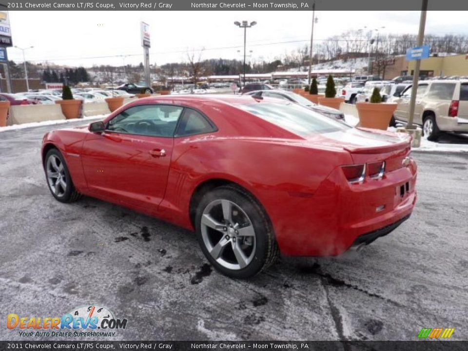 2011 chevrolet camaro lt rs coupe victory red gray photo 5