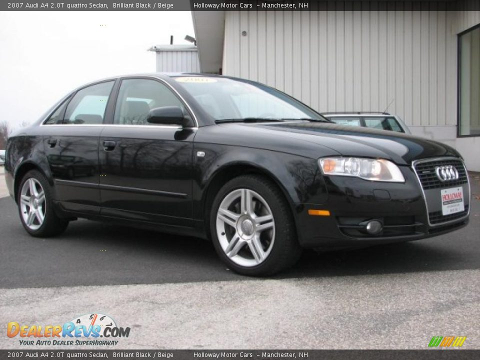 2007 audi a4 2 0t quattro sedan brilliant black beige. Black Bedroom Furniture Sets. Home Design Ideas