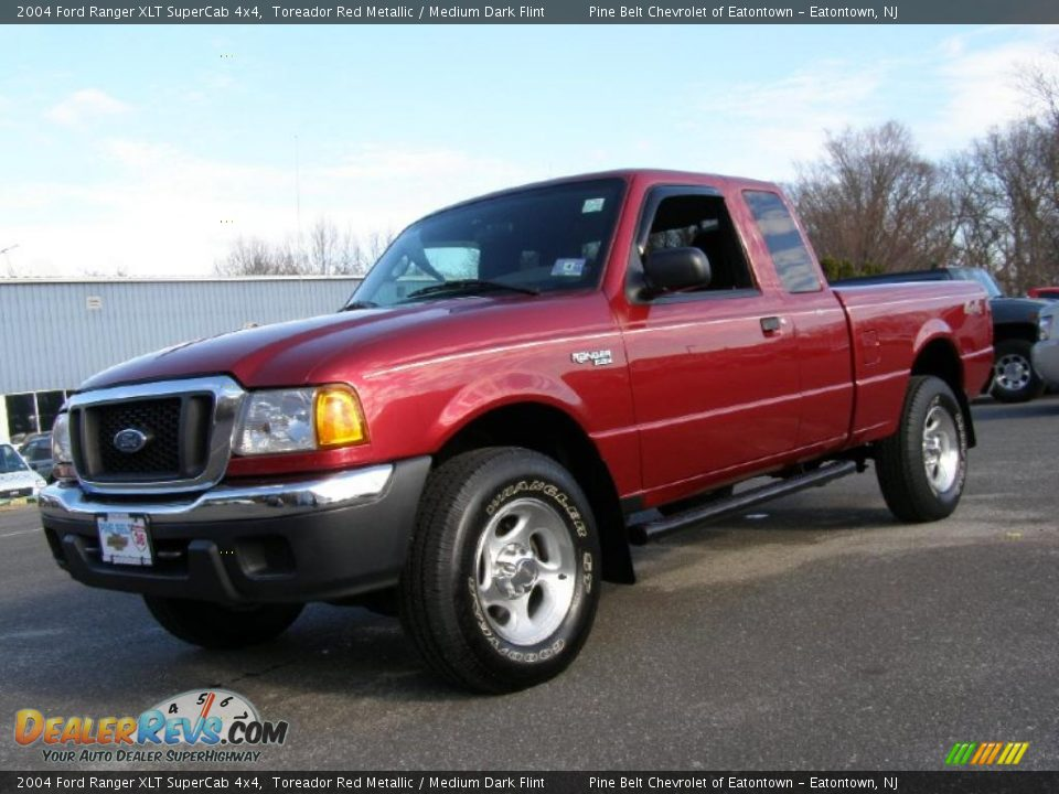 2004 ford ranger xlt supercab 4x4 toreador red metallic medium dark flint photo 1. Black Bedroom Furniture Sets. Home Design Ideas