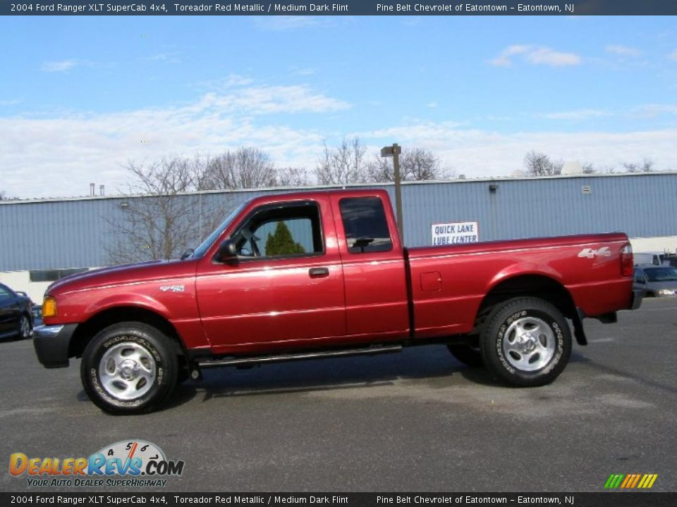 2004 ford ranger xlt supercab 4x4 toreador red metallic medium dark flint photo 3. Black Bedroom Furniture Sets. Home Design Ideas