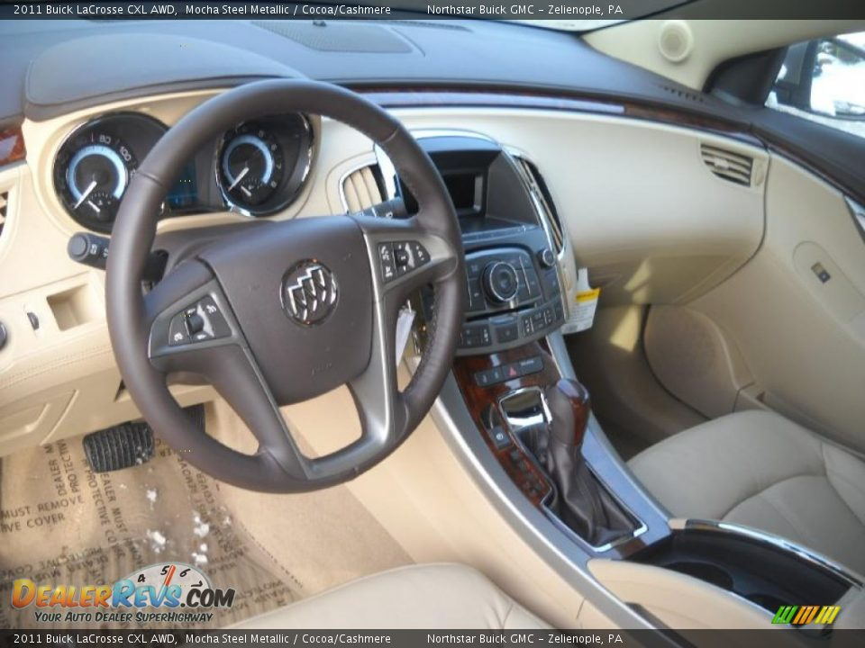 Cocoa Cashmere Interior 2011 Buick Lacrosse Cxl Awd Photo 7