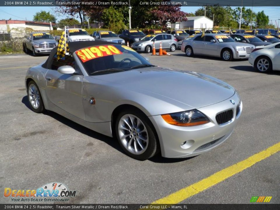 2004 Bmw Z4 2 5i Roadster Titanium Silver Metallic Dream