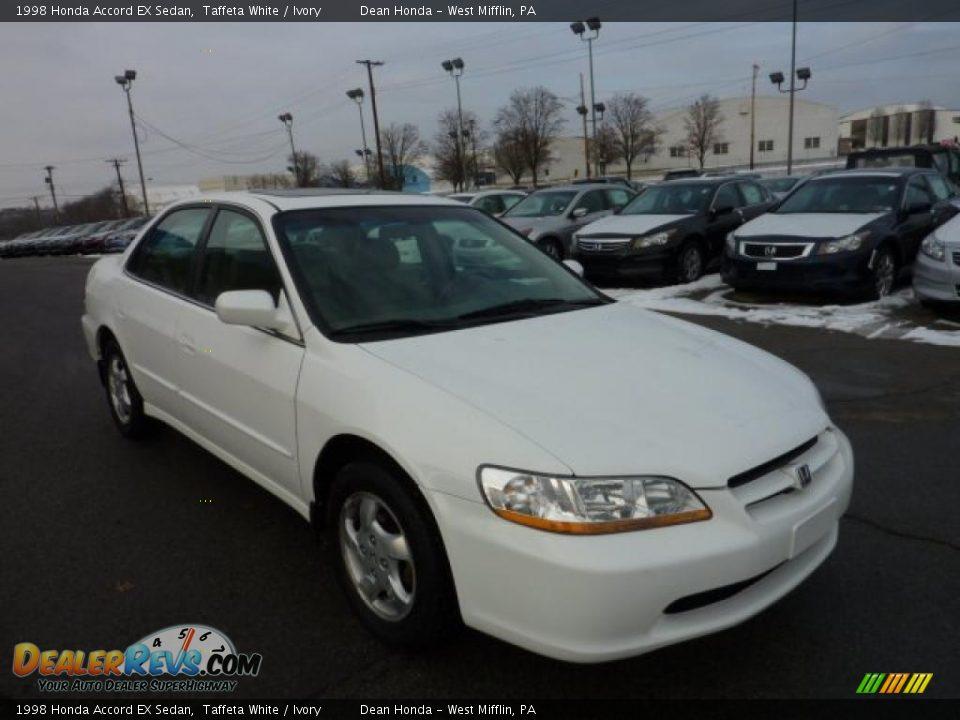 1998 Honda Accord Ex Sedan Taffeta White Ivory Photo 5