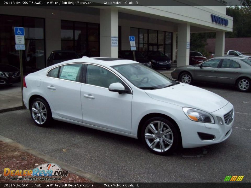 2011 volvo s60 t6 awd ice white soft beige sandstone. Black Bedroom Furniture Sets. Home Design Ideas