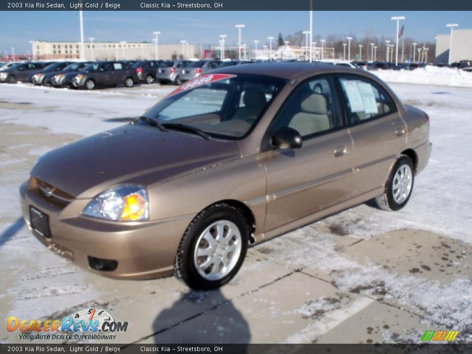2003 kia rio sedan light gold beige photo 3. Black Bedroom Furniture Sets. Home Design Ideas