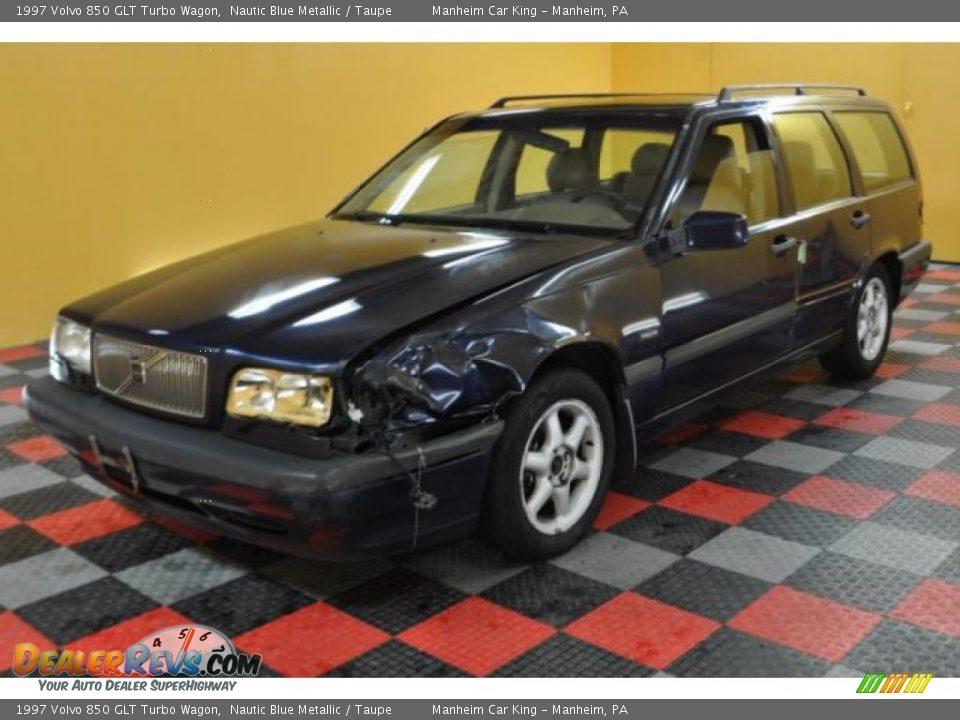 1997 Volvo 850 GLT Turbo Wagon Nautic Blue Metallic / Taupe Photo #2 ...