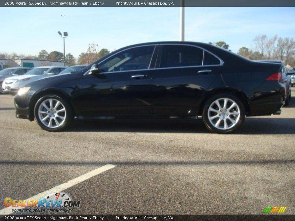 2008 Acura Tsx Sedan Nighthawk Black Pearl Ebony Photo