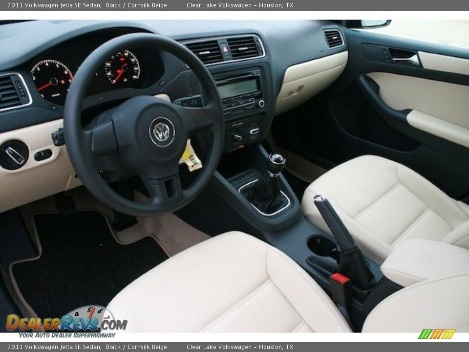 Cornsilk Beige Interior 2011 Volkswagen Jetta Se Sedan Photo 10