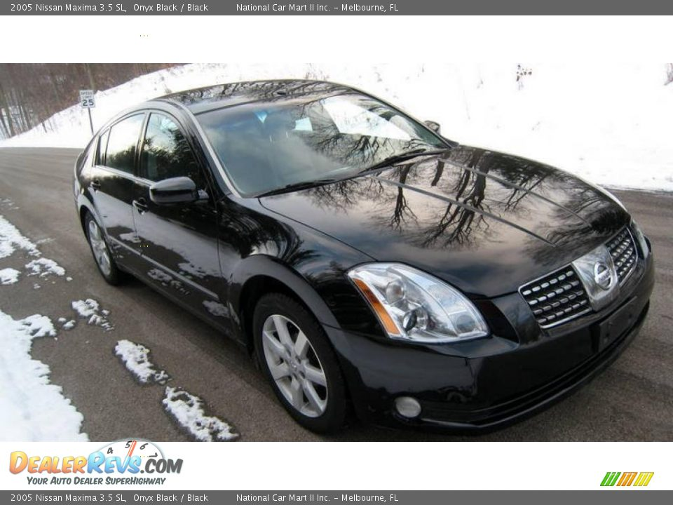 2005 nissan maxima 3 5 sl onyx black black photo 5. Black Bedroom Furniture Sets. Home Design Ideas