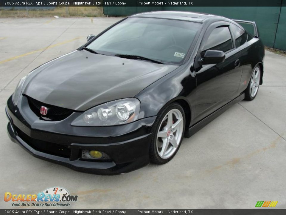 2006 Acura RSX Type S Sports Coupe Nighthawk Black Pearl / Ebony Photo #7