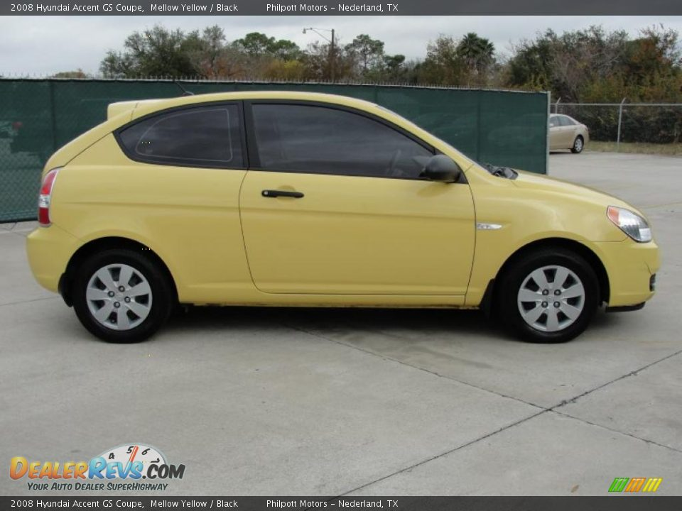 Mellow Yellow 2008 Hyundai Accent Gs Coupe Photo 2