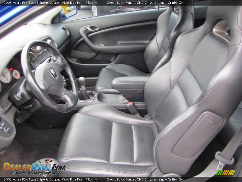 ebony interior 2005 acura rsx type s sports coupe photo. Black Bedroom Furniture Sets. Home Design Ideas