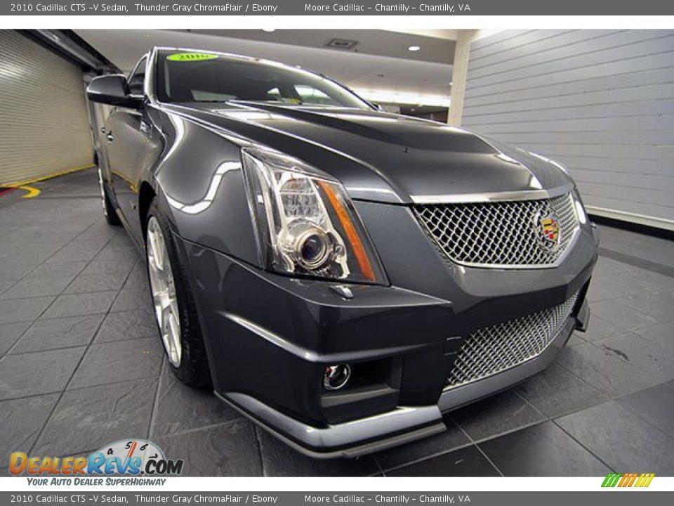 2010 Cadillac CTS -V Sedan Thunder Gray ChromaFlair / Ebony Photo #1