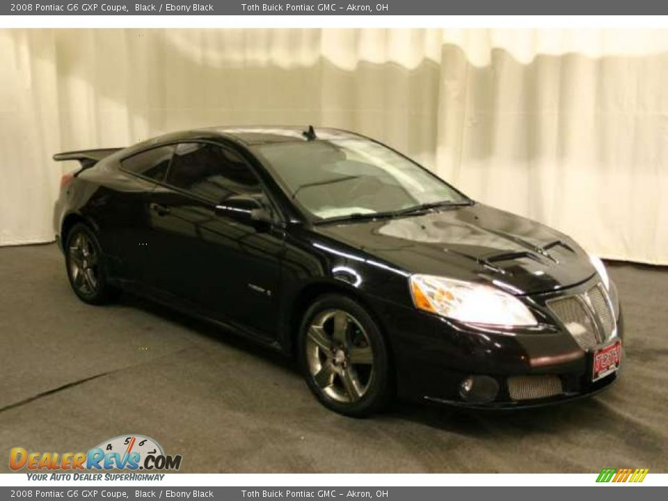 2008 Pontiac G6 GXP Coupe Black / Ebony Black Photo #1 | DealerRevs ...