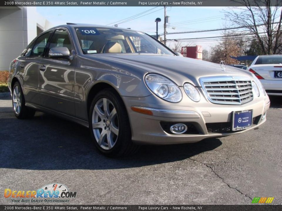 2008 mercedes benz e 350 4matic sedan pewter metallic for Mercedes benz e 350 2008