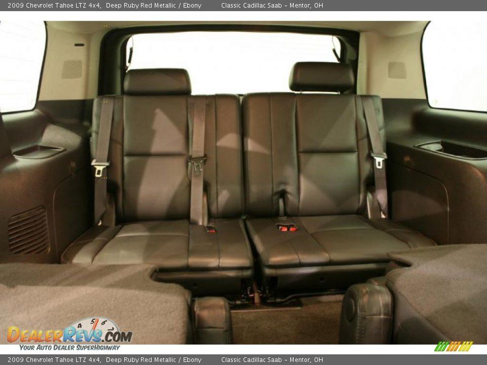Ebony Interior 2009 Chevrolet Tahoe Ltz 4x4 Photo 12