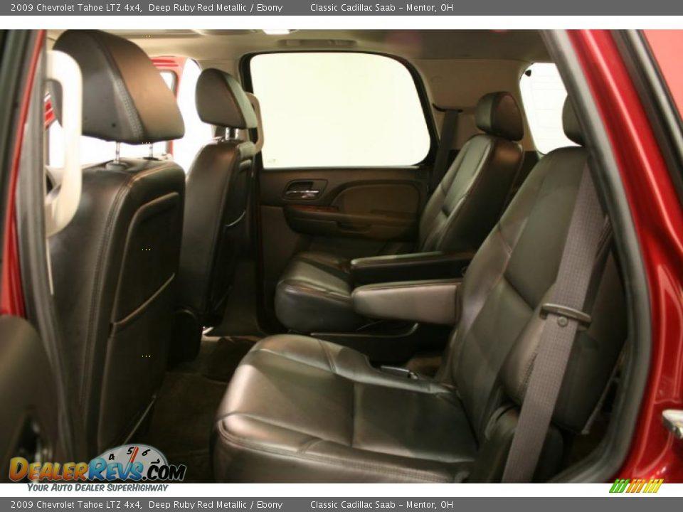 Ebony Interior 2009 Chevrolet Tahoe Ltz 4x4 Photo 13