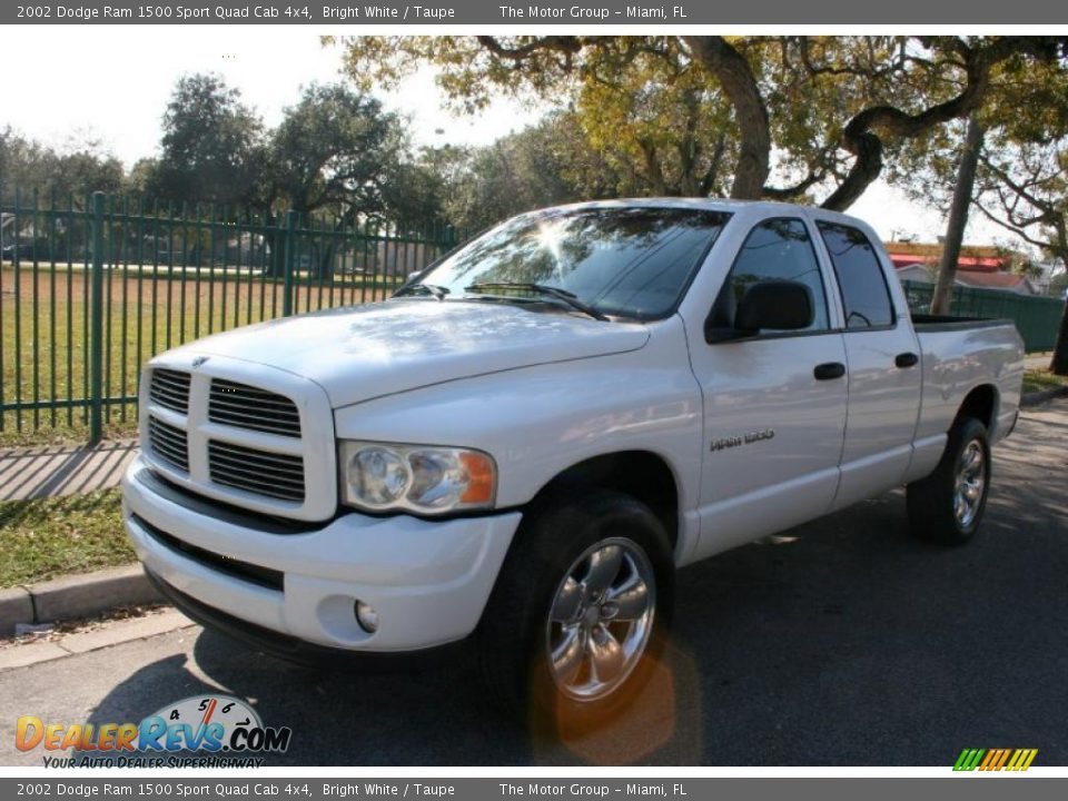 2002 dodge ram 1500 sport quad cab 4x4 bright white taupe photo 1. Black Bedroom Furniture Sets. Home Design Ideas
