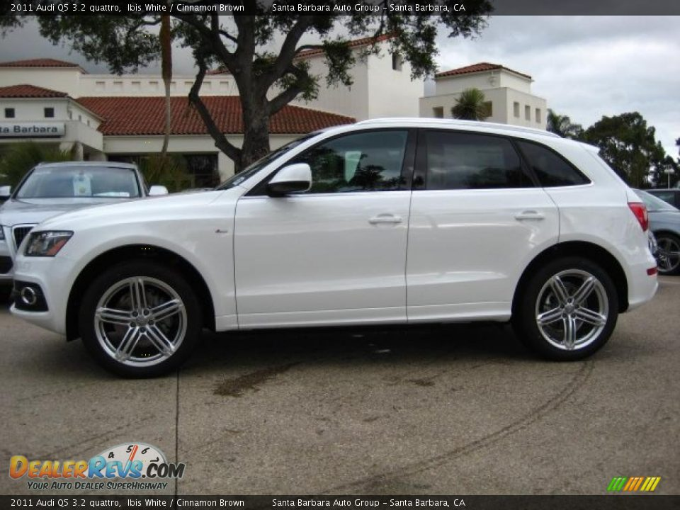 2011 Audi Q5 3 2 Quattro Ibis White Cinnamon Brown Photo