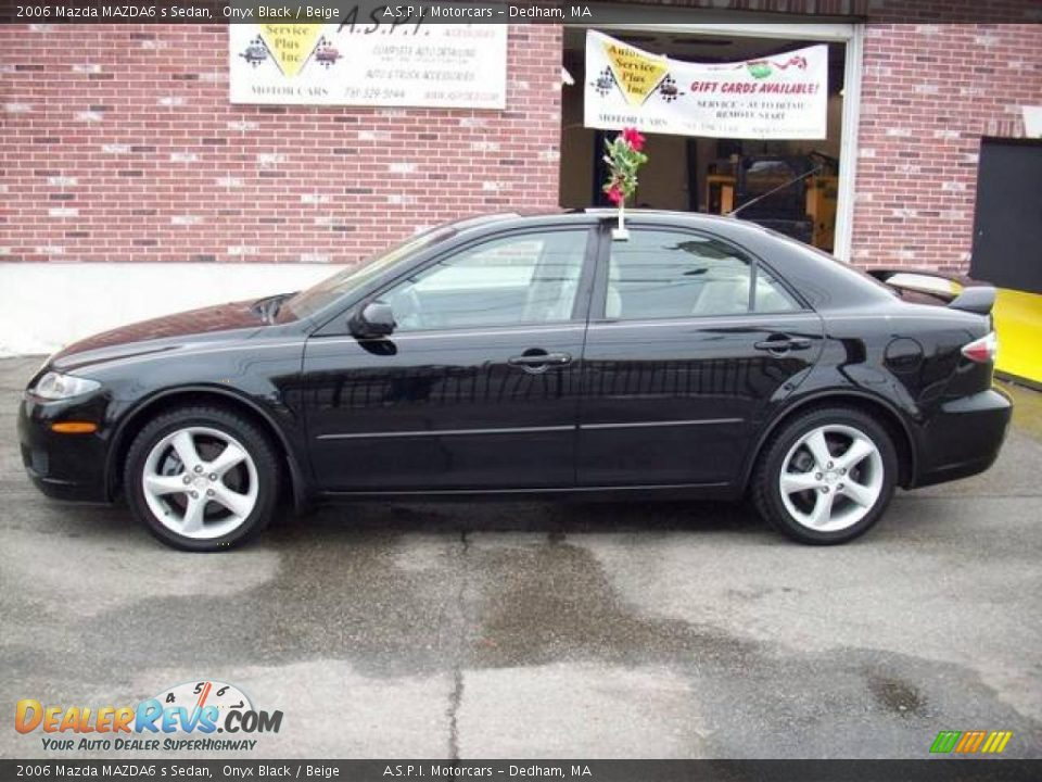 2006 Mazda Mazda6 S Sedan Onyx Black Beige Photo 2