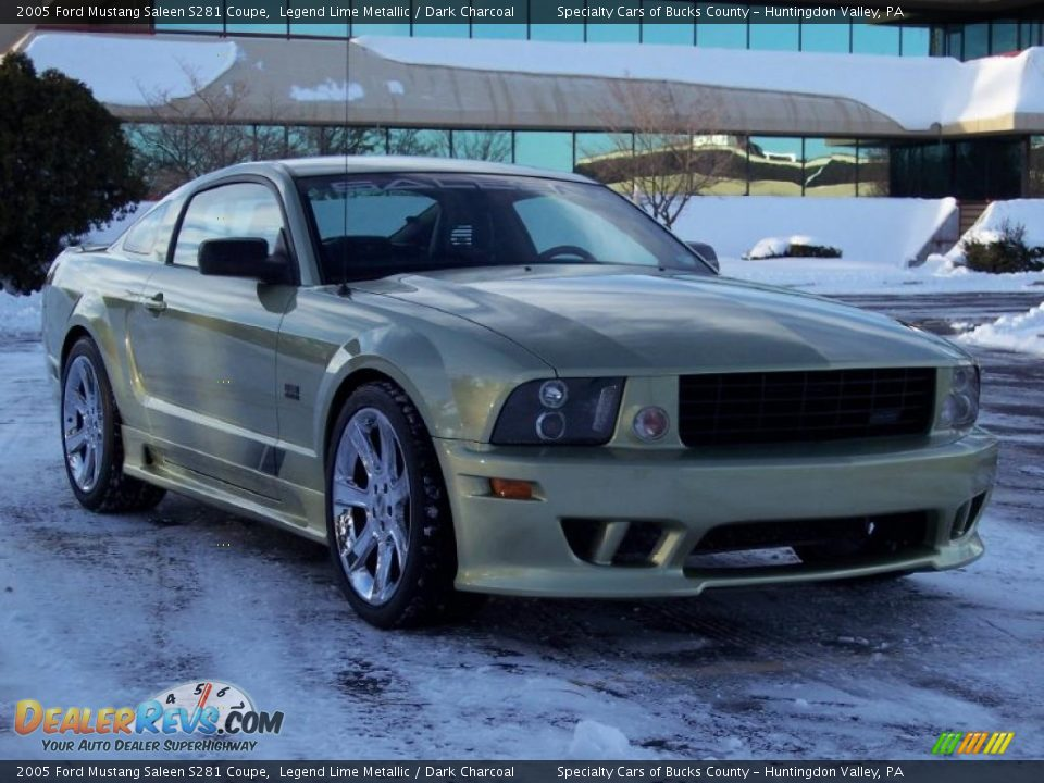 2005 ford mustang saleen s281 coupe legend lime metallic dark charcoal photo 17. Black Bedroom Furniture Sets. Home Design Ideas