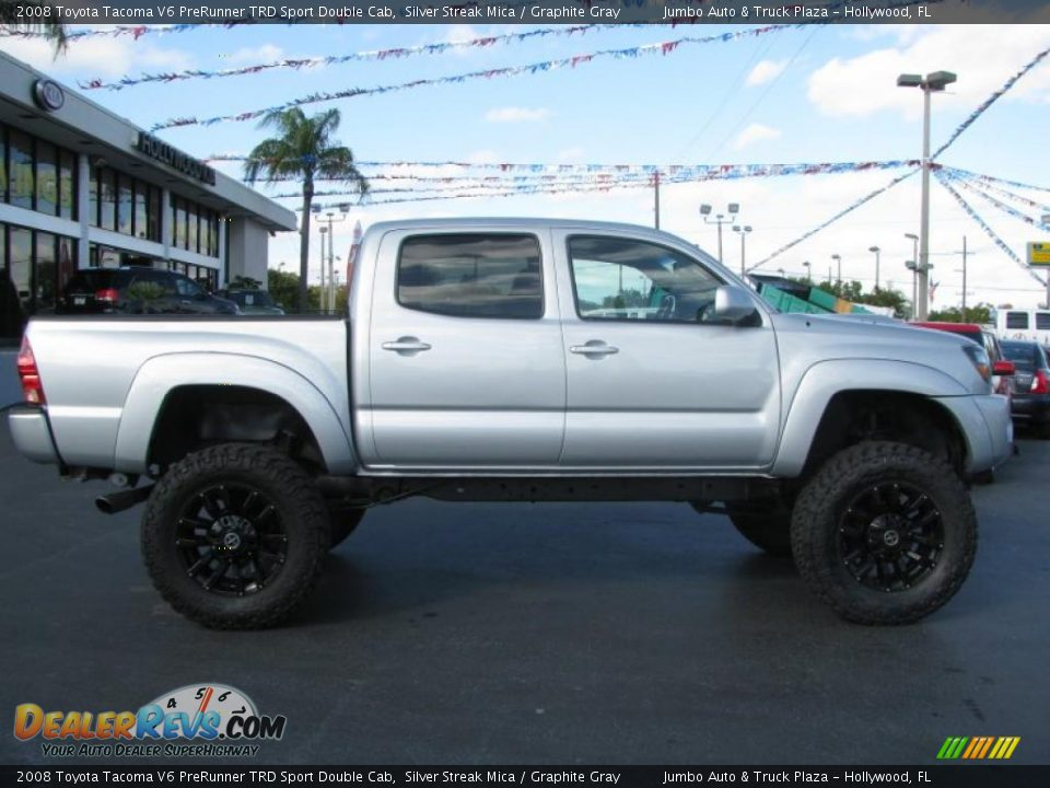 2008 toyota tacoma v6 prerunner trd sport double cab silver streak mica graphite gray photo. Black Bedroom Furniture Sets. Home Design Ideas