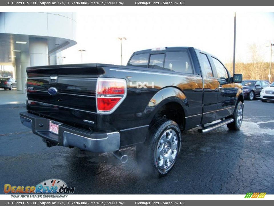 2011 ford f150 xlt supercab 4x4 tuxedo black metallic steel gray photo 3. Black Bedroom Furniture Sets. Home Design Ideas