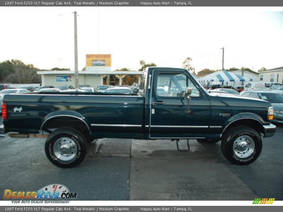 1997 ford f250 xlt regular cab 4x4 teal metallic medium graphite photo 13. Black Bedroom Furniture Sets. Home Design Ideas
