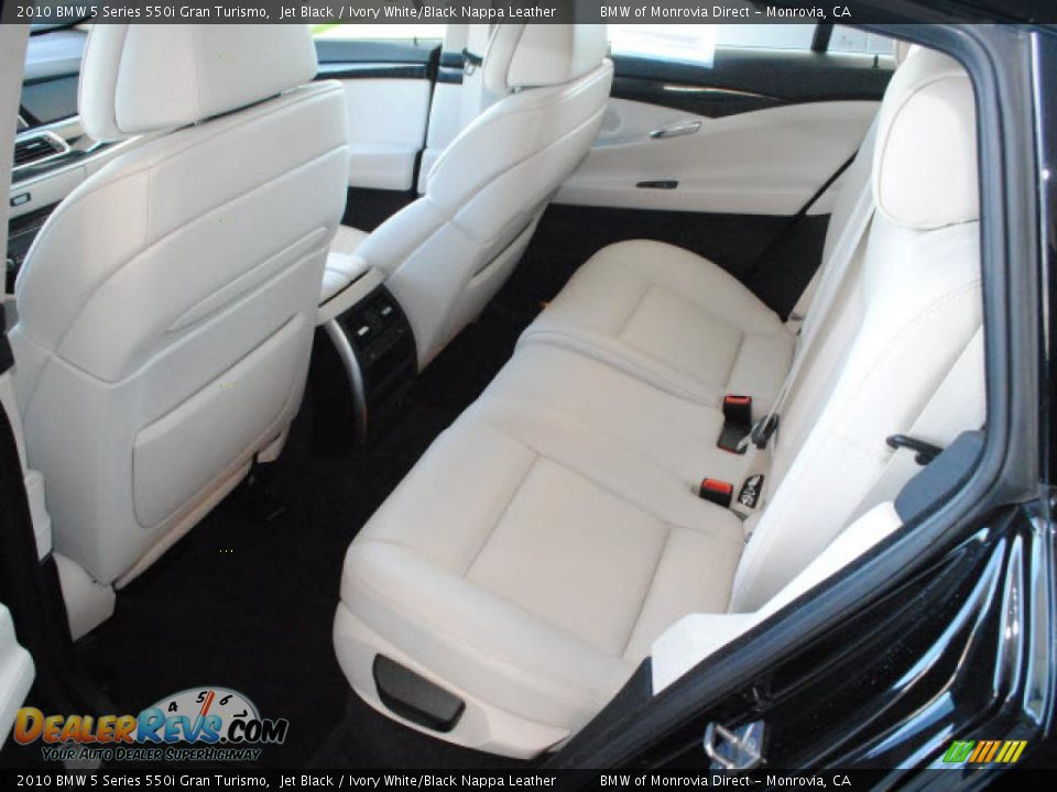 ivory white black nappa leather interior 2010 bmw 5 series 550i gran turismo photo 12. Black Bedroom Furniture Sets. Home Design Ideas