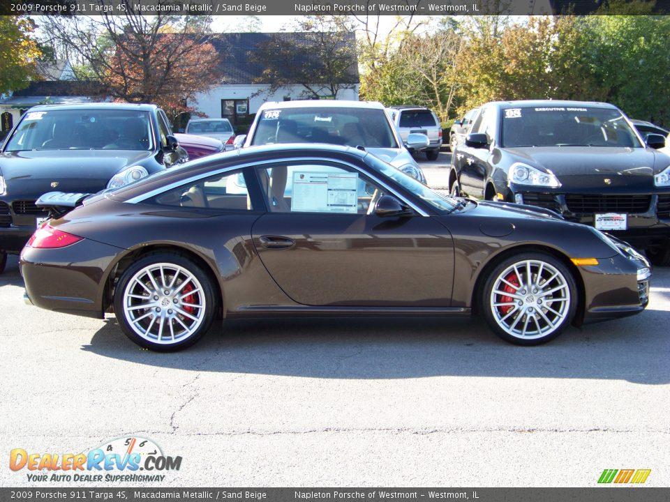 2009 Porsche 911 Targa 4s Macadamia Metallic Sand Beige