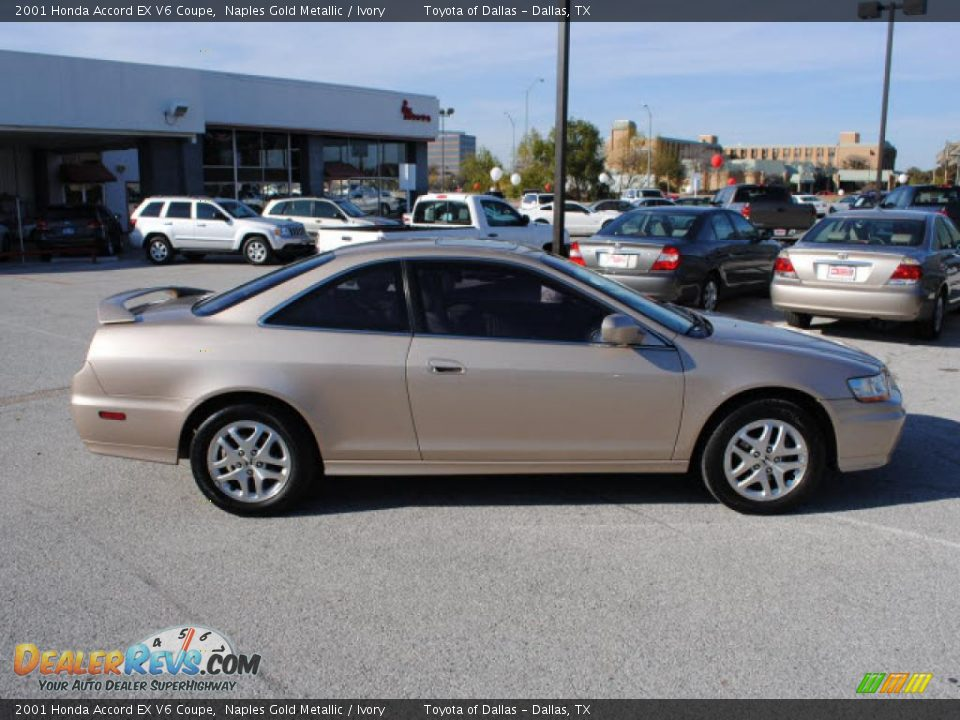 2001 honda accord ex v6 coupe naples gold metallic ivory photo 5. Black Bedroom Furniture Sets. Home Design Ideas
