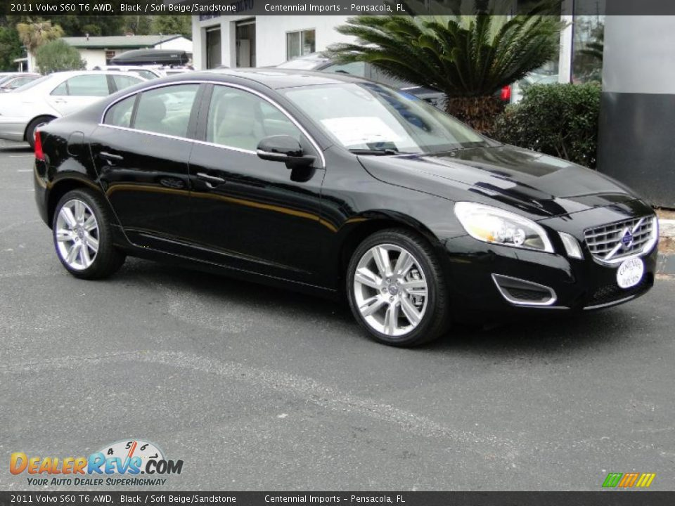 2011 volvo s60 t6 awd black soft beige sandstone photo. Black Bedroom Furniture Sets. Home Design Ideas