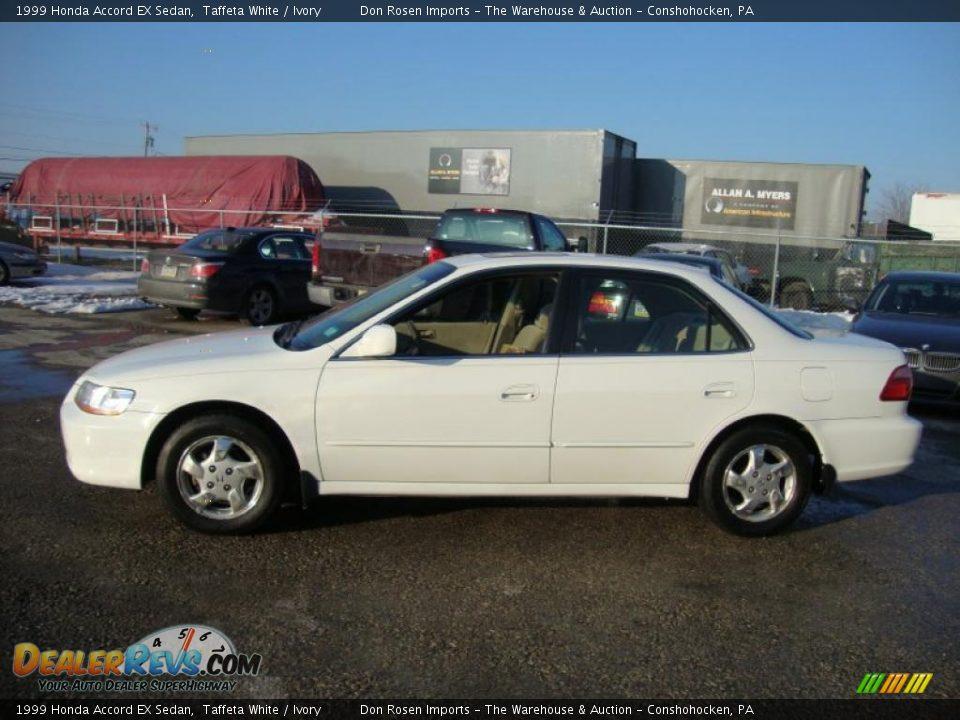 1999 Honda Accord Ex Sedan Taffeta White Ivory Photo 11