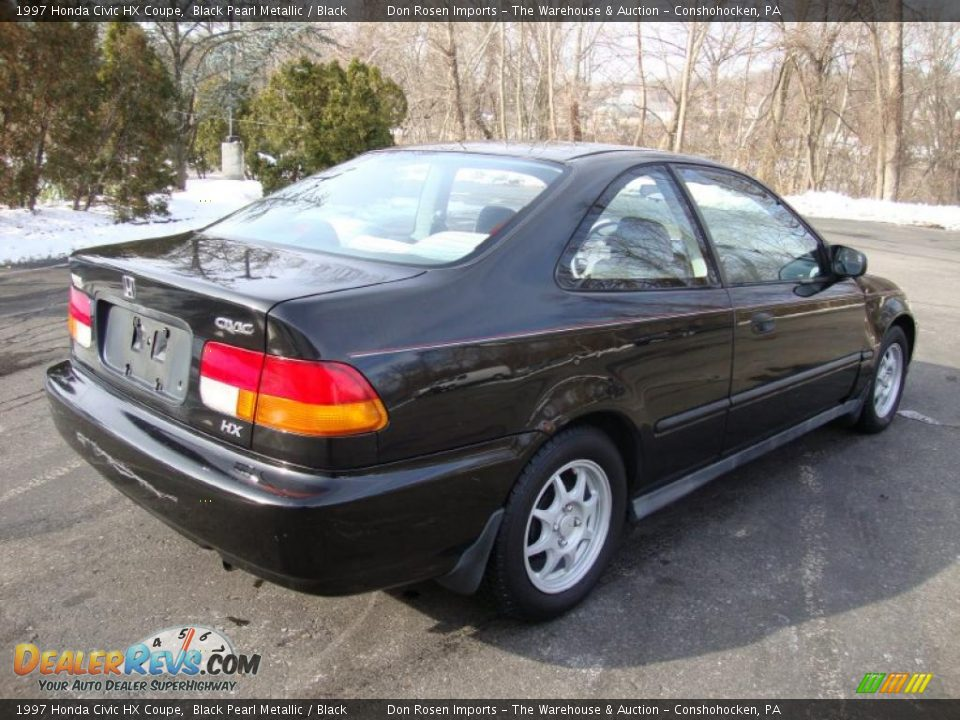1997 honda civic hx coupe black pearl metallic black