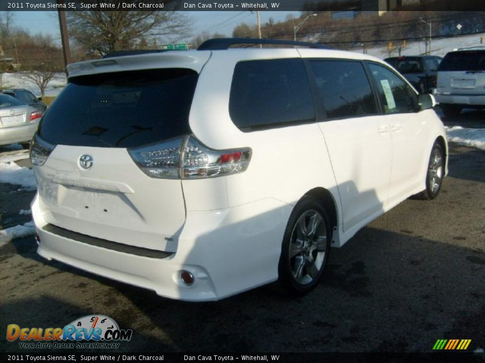 2011 toyota sienna se super white dark charcoal photo 6. Black Bedroom Furniture Sets. Home Design Ideas