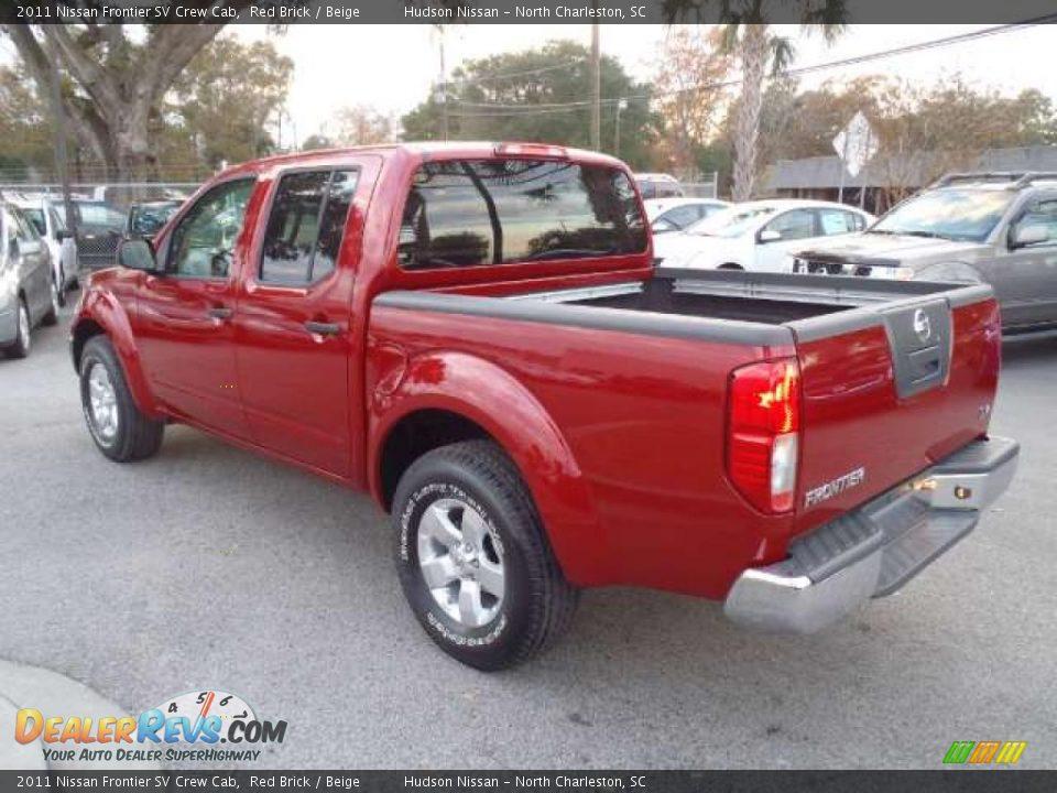 Red Brick 2011 Nissan Frontier SV Crew Cab Photo #3 | DealerRevs.com