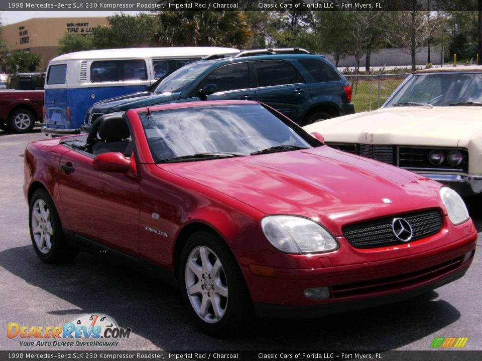 1998 mercedes benz slk 230 kompressor roadster imperial red charcoal photo 4. Black Bedroom Furniture Sets. Home Design Ideas