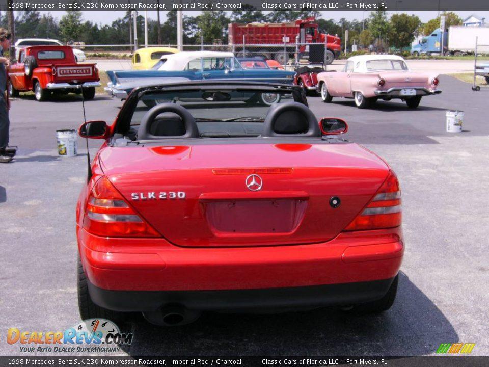 1998 mercedes benz slk 230 kompressor roadster imperial red charcoal photo 5. Black Bedroom Furniture Sets. Home Design Ideas